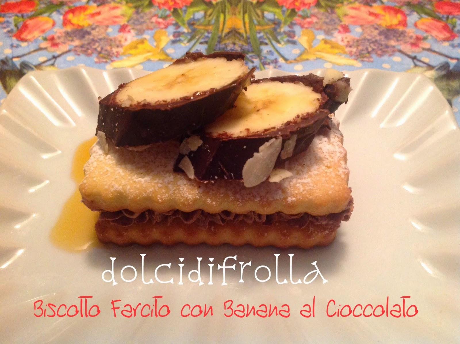 Biscotto farcito con Banana al Cioccolato