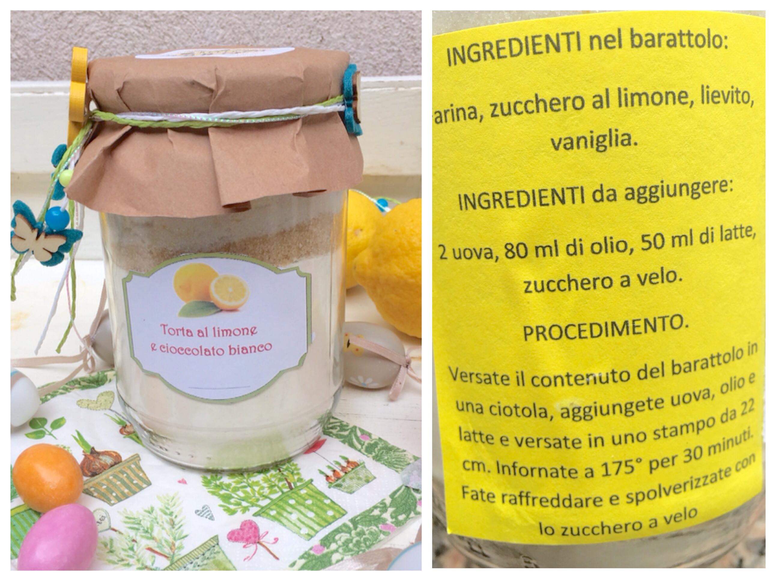 TORTA AL LIMONE E CIOCCOLATO BIANCO (ingredienti in barattolo)