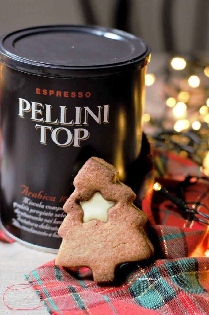 Biscotti Di Natale 1 Uovo.Biscotti Di Natale Al Caffe E Cioccolato Bianco Dolci Di Frolla