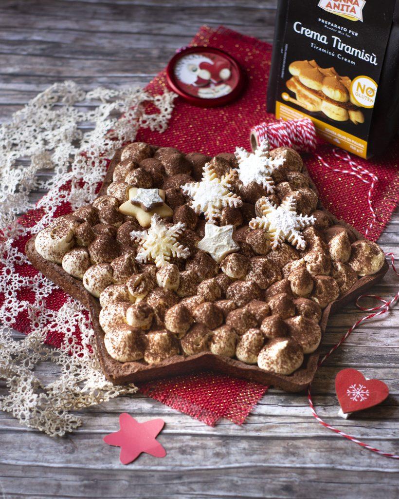 Dolce Stella Di Natale Ingredienti.Stella Di Frolla Al Cacao Con Crema Tiramisu Dolci Di Frolla
