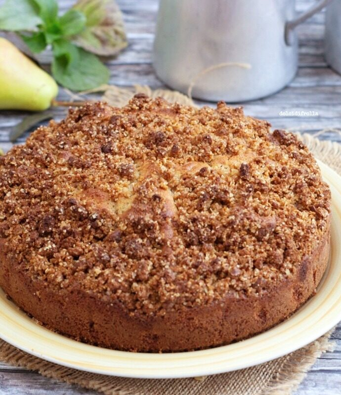 TORTA CRUMBLE ALLE PERE